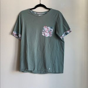 D&F ricky singh green pocket tee